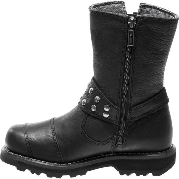 ハーレーダビッドソン レディース ブーツ&レインブーツ シューズ Marmora Motorcycle Boot Black Full Grain Leather