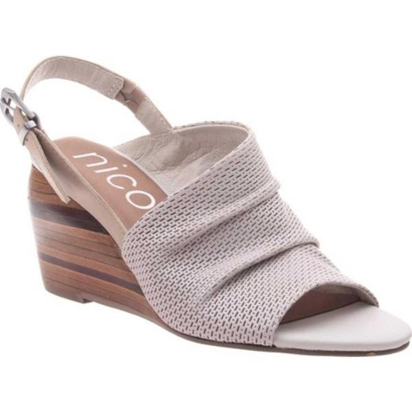 ニコル レディース サンダル シューズ Aziza Slingback Wedge Sandal Dove Grey Leather
