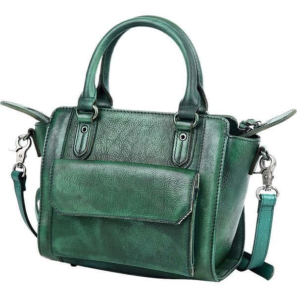 オールドトレンド レディース ハンドバッグ バッグ Maya Crossbody Vintage Green