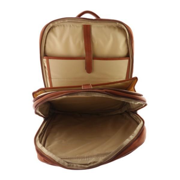 ピエールレザー メンズ バックパック・リュックサック バッグ Xl Laptop Travel Backpack 3043 Saddle