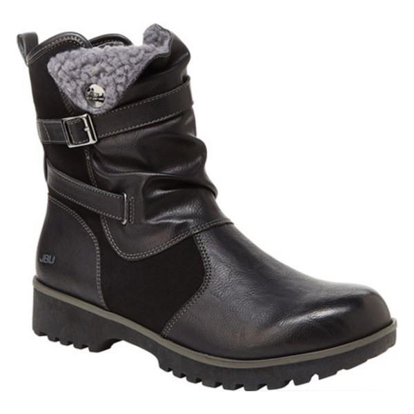 ジャンブー レディース ブーツ&レインブーツ シューズ JBU Evans Vegan Ankle Boot Black Brushed Vegan Microbuck/Faux Shearling