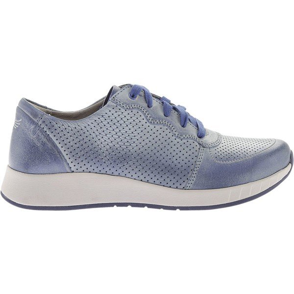ダンスコ レディース スニーカー シューズ Christina Sneaker Blue Metallic Brush Off Leather