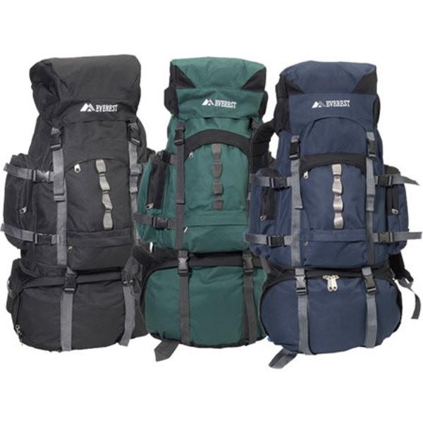 エバーレスト レディース バックパック・リュックサック バッグ Metal Frame Hiking Pack Navy
