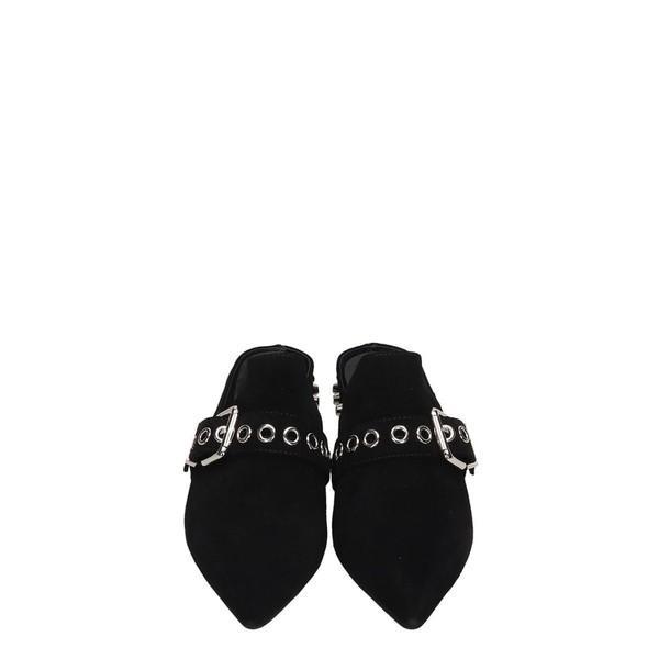 ジェフリー キャンベル パンプス レディース シューズ Jeffrey Campbell Black Suede Talega Flats Sandals black