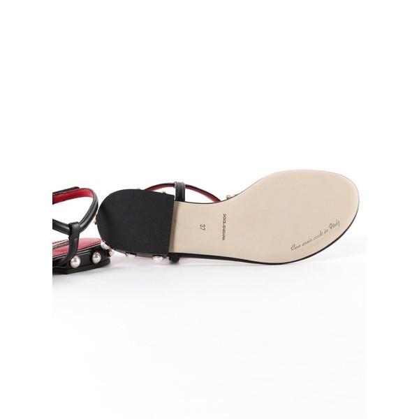 ドルチェ&ガッバーナ サンダル レディース シューズ Dolce & Gabbana Logo Flat Sandals Nero
