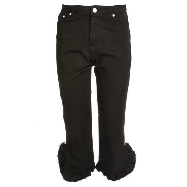 エムエスジイエム デニム レディース ボトムス Msgm Ruffle Trim Jeans -