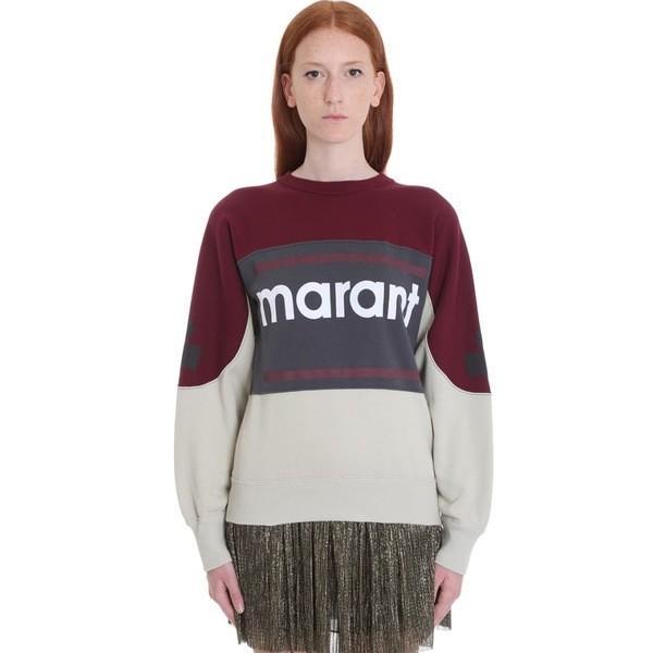 イザベルマラン パーカー・スウェットシャツ レディース アウター Isabel Marant toile Gallian Sweatshirt In Bordeaux Cotton bordeaux