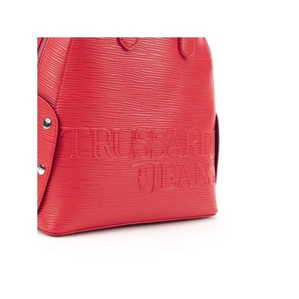 トラサルディ バックパック・リュックサック レディース バッグ Trussardi Melly Saffiano Ecoleather Backpack RED