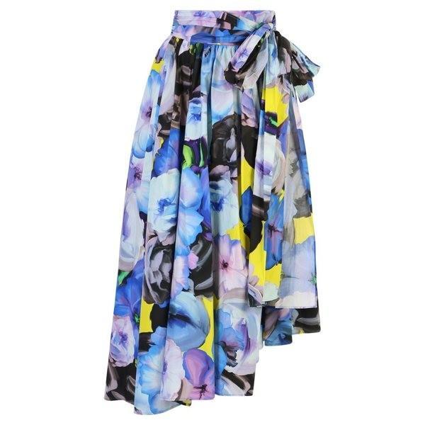 エムエスジイエム スカート レディース ボトムス MSGM Floral Print Cotton Skirt Blue
