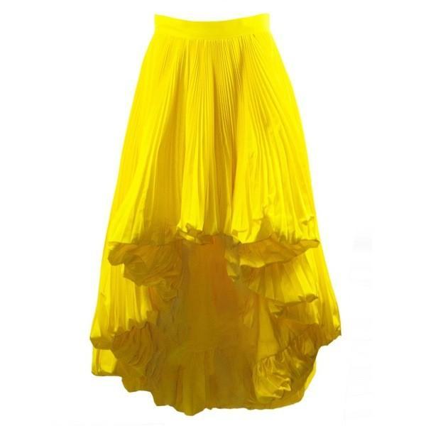 アレクサンドル・ボーティエ スカート レディース ボトムス Alexandre Vauthier Yellow Full Pleated Skirt Giallo astyshop
