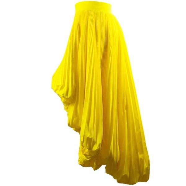 アレクサンドル・ボーティエ スカート レディース ボトムス Alexandre Vauthier Yellow Full Pleated Skirt Giallo astyshop 02