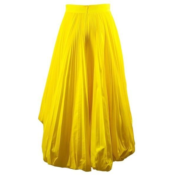 アレクサンドル・ボーティエ スカート レディース ボトムス Alexandre Vauthier Yellow Full Pleated Skirt Giallo astyshop 03