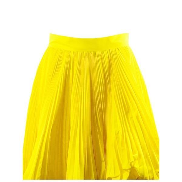 アレクサンドル・ボーティエ スカート レディース ボトムス Alexandre Vauthier Yellow Full Pleated Skirt Giallo astyshop 04
