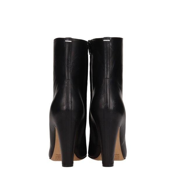 マルタンマルジェラ ブーツ&レインブーツ レディース シューズ Maison Margiela Black Leather Ankle Boots black