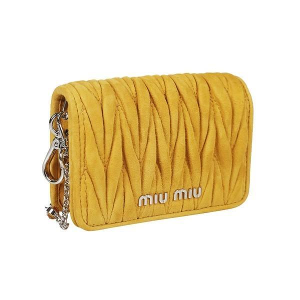 ミュウミュウ ショルダーバッグ レディース バッグ Miu Miu Micro Matelass Shoulder Bag Yellow