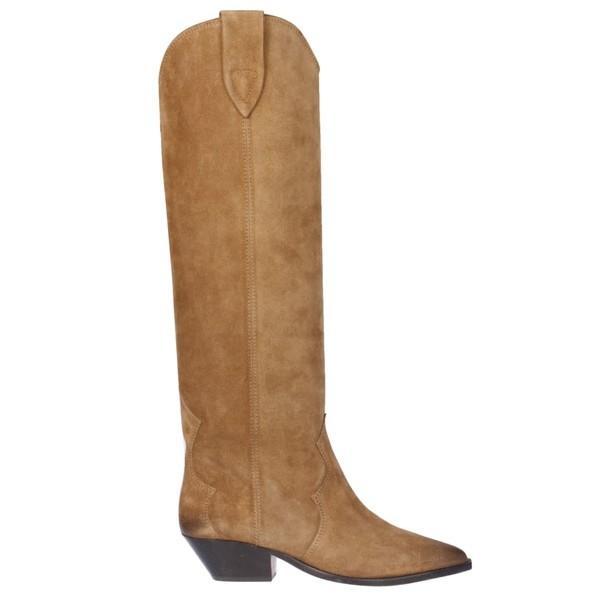 イザベル マラン ブーツ&レインブーツ レディース シューズ Isabel Marant Pointed Toe Over-the-knee Boots Taupe|astyshop|01