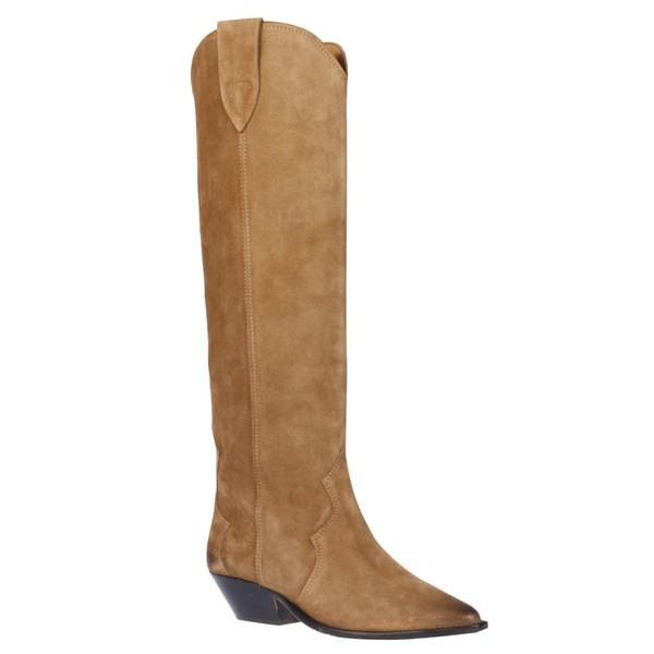 イザベル マラン ブーツ&レインブーツ レディース シューズ Isabel Marant Pointed Toe Over-the-knee Boots Taupe|astyshop|02