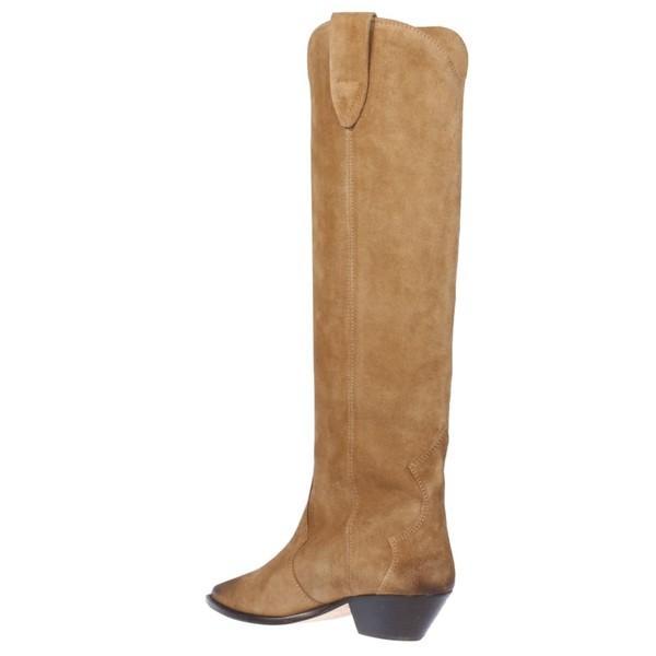イザベル マラン ブーツ&レインブーツ レディース シューズ Isabel Marant Pointed Toe Over-the-knee Boots Taupe|astyshop|03