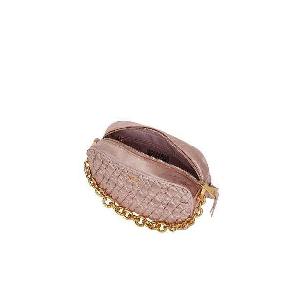 ファーラ クラッチバッグ レディース バッグ Furla Quilted Velvet Cometa Mini Crossbody Bag Pink
