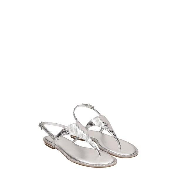 マイケルコース パンプス レディース シューズ Michael Kors Silver Leather Enid Sandals silver