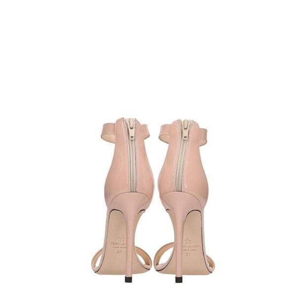 マークエリス サンダル レディース シューズ Marc Ellis Powder Patent Leather Sandals powder