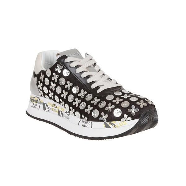 プレミアータ スニーカー レディース シューズ Premiata Embellished Conny Sneakers Multicolor