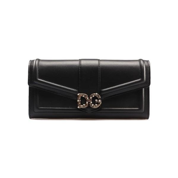 ドルチェ&ガッバーナ 財布 レディース アクセサリー Dolce & Gabbana Logo Plaque Continental Wallet Nerorubino