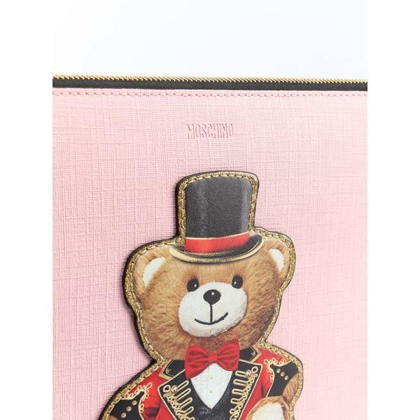 モスキーノ クラッチバッグ レディース バッグ Moschino Teddy Bear Clutch Pink