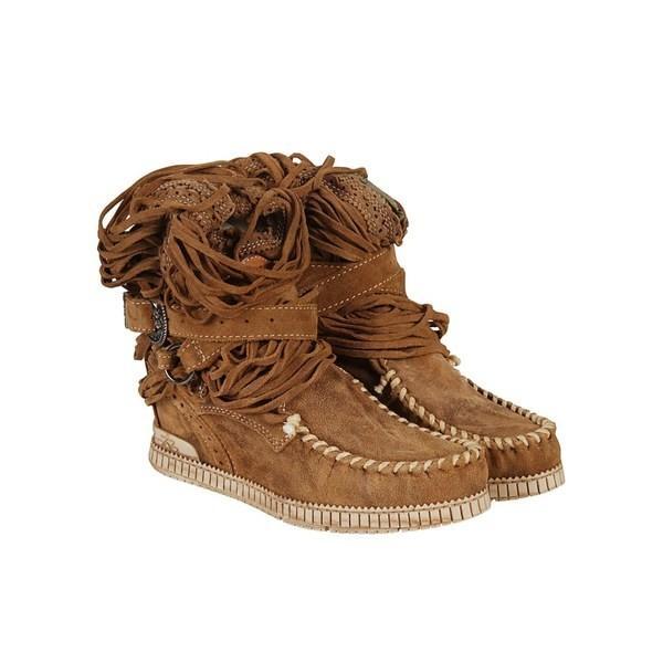 エルバッケロ ブーツ&レインブーツ レディース シューズ El Vaquero Buckled Ankle Boots Mou