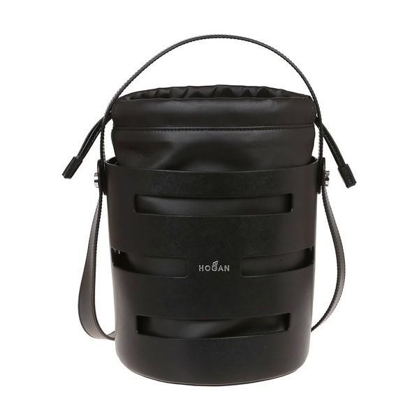 ホーガン トートバッグ レディース バッグ Hogan Cut-out Detail Bucket Bag Black