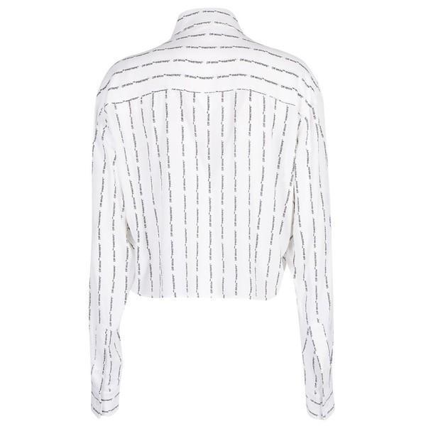 オフホワイト シャツ レディース トップス Off White Crop Shirt Whitenocolor