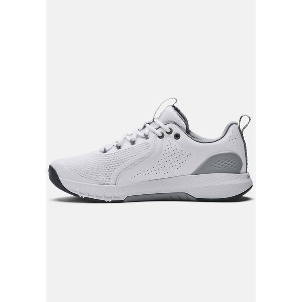 アンダーアーマー シューズ メンズ フィットネス CHARGED COMMIT TR 3 - Sports shoes - white/gray