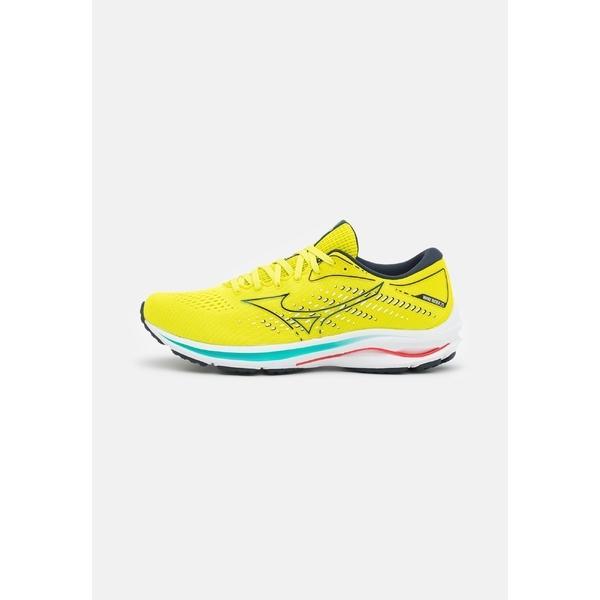 ミズノ シューズ メンズ ランニング WAVE RIDER 25 - Neutral running shoes - sunny lime/sky captain/ignition red