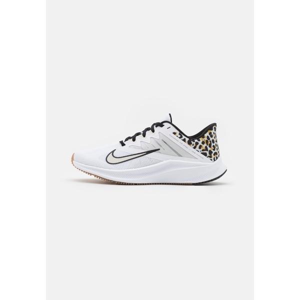 ナイキ シューズ レディース ランニング QUEST 3 PRM - Neutral running shoes - white/black/light bone/light brown
