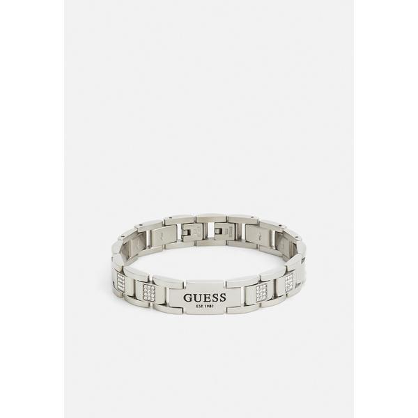 ゲス ブレスレット・バングル・アンクレット メンズ アクセサリー HERO FLAT PLATE UNISEX - Bracelet - silver-coloured