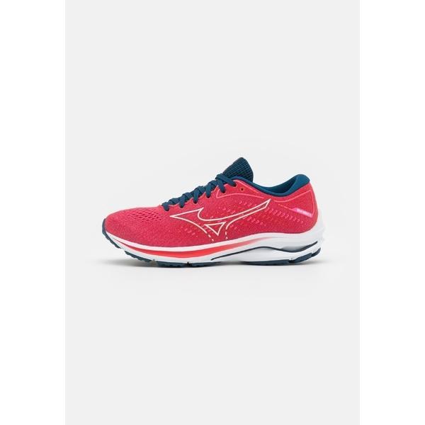 ミズノ シューズ レディース ランニング WAVE RIDER 25 - Neutral running shoes - phlox pink/white/gibraltor sea