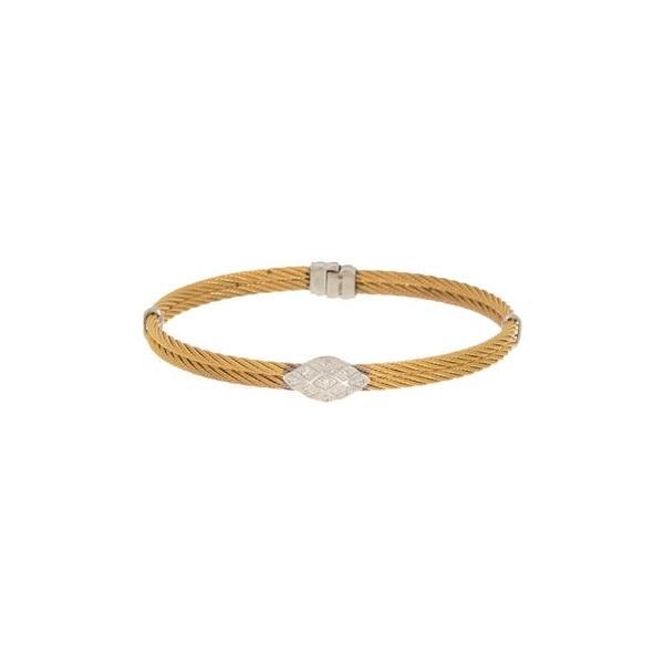 アロール レディース ブレスレット・バングル・アンクレット アクセサリー Yellow Cable 18K White Gold Rope Bracelet 18kt Wg
