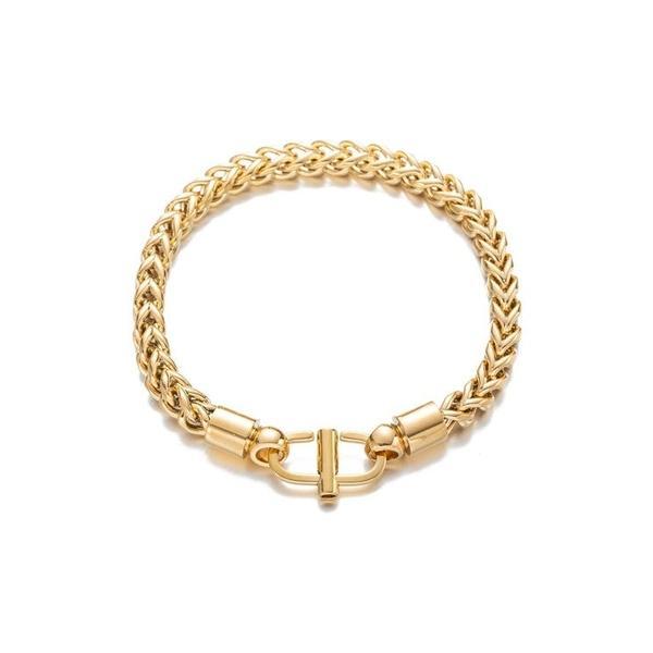 アイキャンデー メンズ ブレスレット・バングル・アンクレット アクセサリー 18K Gold Plated Alex Chain Link Bracelet Gold
