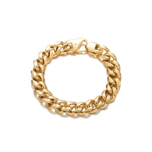アイキャンデー メンズ ブレスレット・バングル・アンクレット アクセサリー 18K Gold Plated Luther Braided Chain Link Bracelet Gold