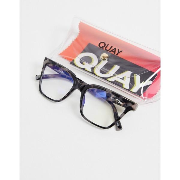 クアイオーストラリア レディース サングラス&アイウェア アクセサリー Quay CEO womens blue light glasses in black Black