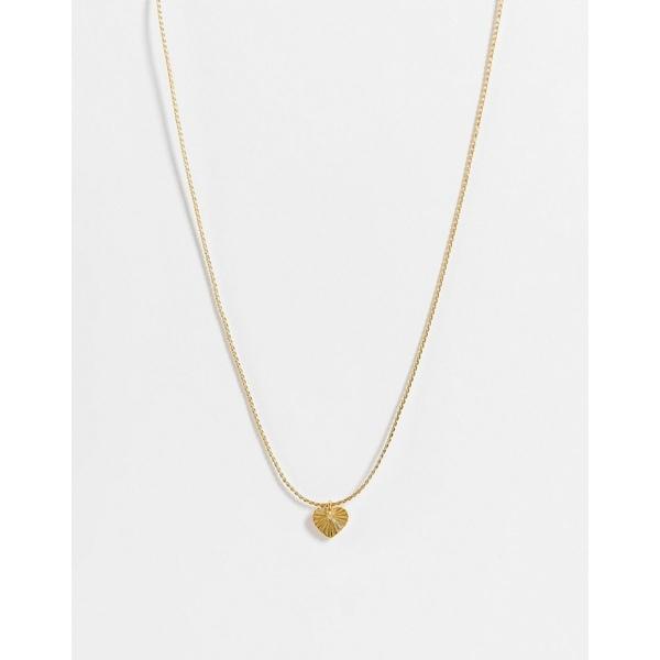 ホイッスルズ レディース ネックレス・チョーカー・ペンダントトップ アクセサリー Whistles textured heart necklace in gold Gold