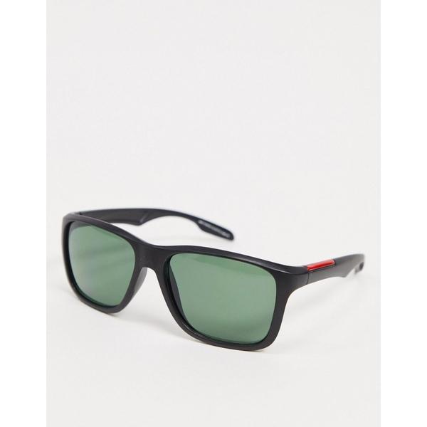 セブンエックス レディース サングラス&アイウェア アクセサリー SVNX square sunglasses in black Matte black/g15