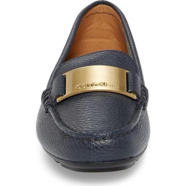 【当日出荷】 カルバンクライン レディース Calvin Klein Lisette Loafer (Women) Deep Navy Leather 【サイズ US8.5】