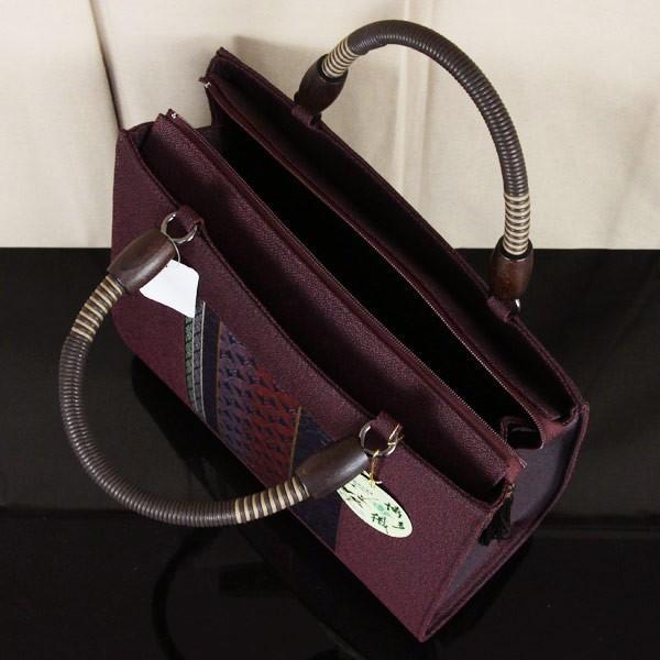 世美庵謹製 博多織 帯地 和装 バッグ「華三彩」日本製 bag1467