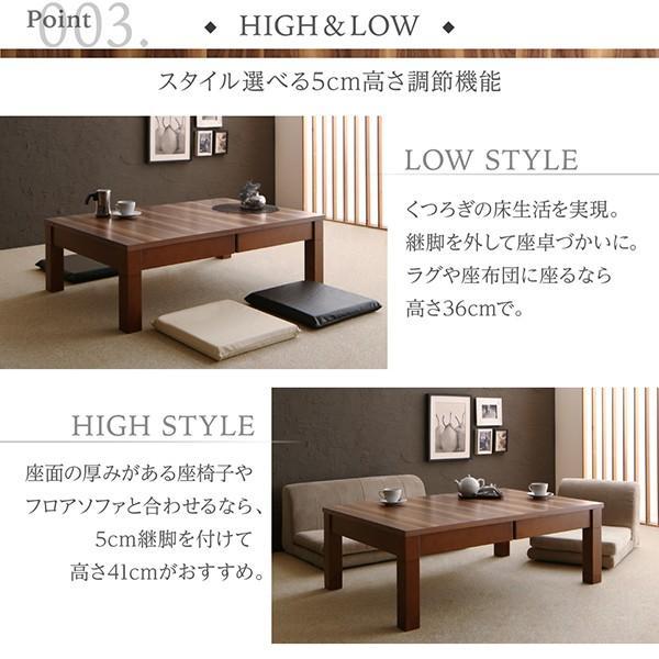3段階伸長式モダンデザインこたつテーブル Abroader アブローダー 長方形(80×120〜180cm)