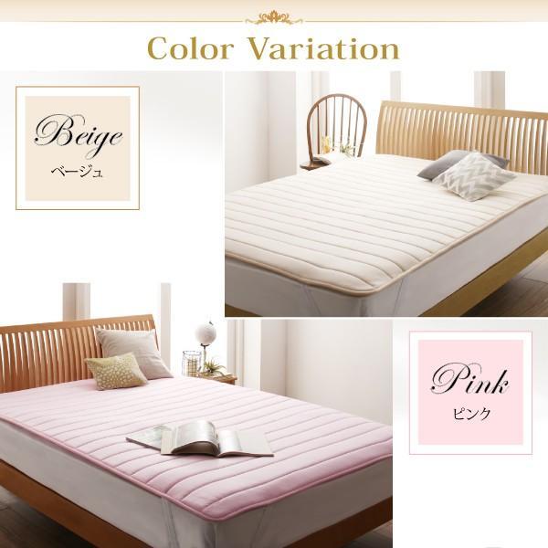 寝具 敷きパッド 寝心地が進化する・V-LAPニットベッドパッド セミ 敷パッド 送料無料|asupura|05