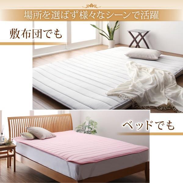 寝具 敷きパッド 寝心地が進化する・V-LAPニットベッドパッド セミ 敷パッド 送料無料|asupura|10