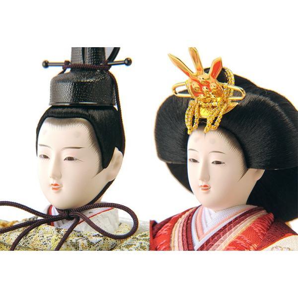 雛人形 雛 コンパクト収納飾り ひな人形 三段飾り 五人飾り 会津塗り 雅泉作 fzcp-45r1374skh asutsuku-ningyoya 05