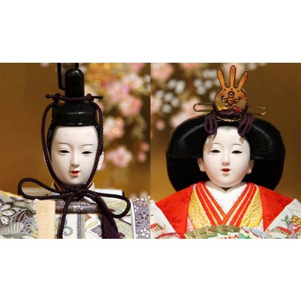 雛人形 久月 ひな人形 雛 三段飾り 五人飾り 瑞光雛 西陣織金襴 九番親王 大三五官女 久月オリジナル頭 h023-k-1070 K-32|asutsuku-ningyoya|04