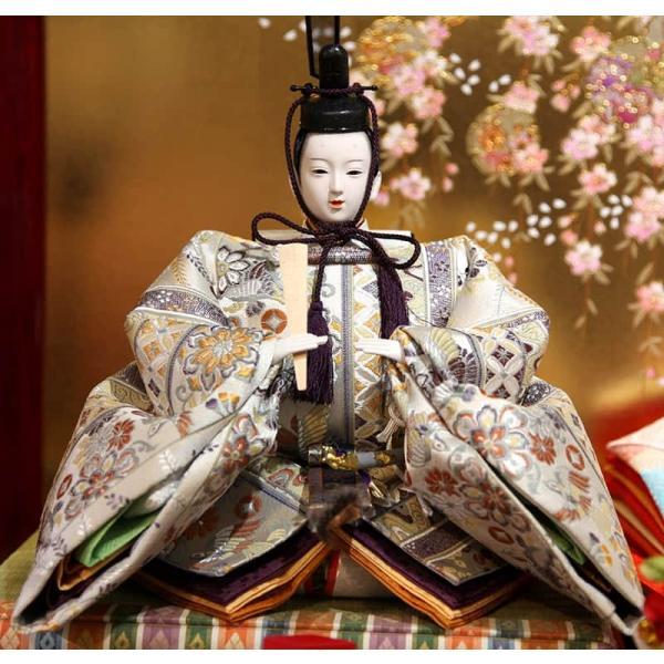 雛人形 久月 ひな人形 雛 三段飾り 五人飾り 瑞光雛 西陣織金襴 九番親王 大三五官女 久月オリジナル頭 h023-k-1070 K-32|asutsuku-ningyoya|05
